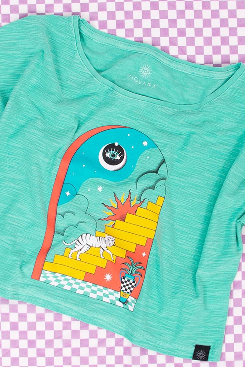 Camiseta Curta Aqua Escada