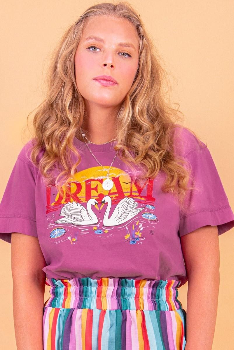 Camiseta T-shirt Cisne No Lago