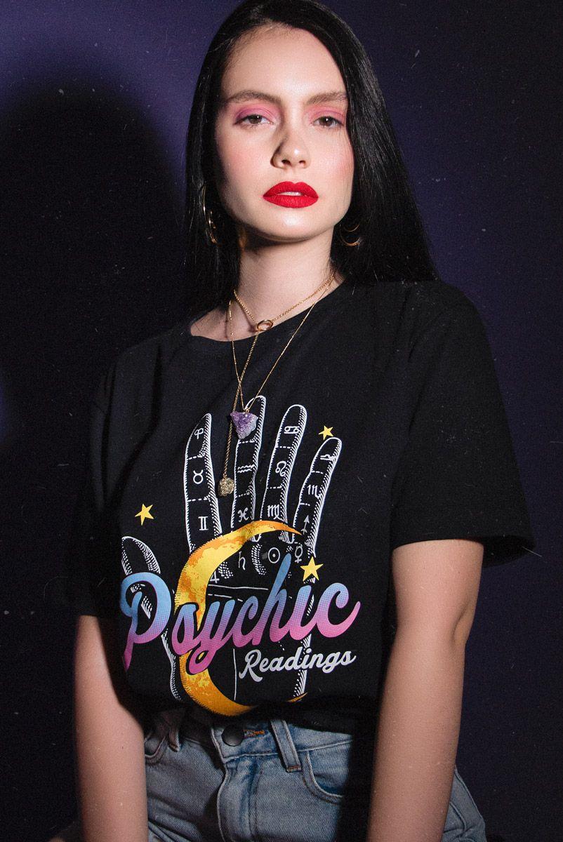 Camiseta T-shirt Mão Palmistry
