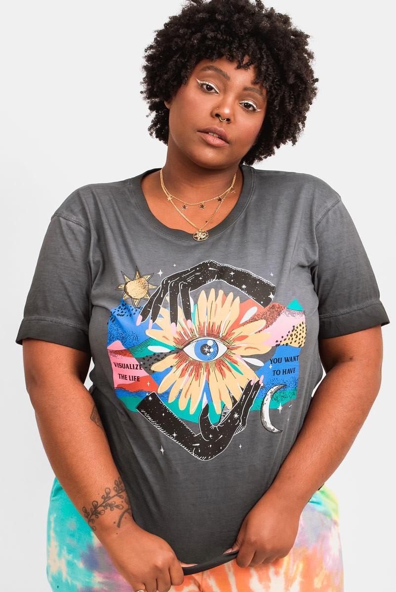 Camiseta T-shirt PLUS Florescer Mãos