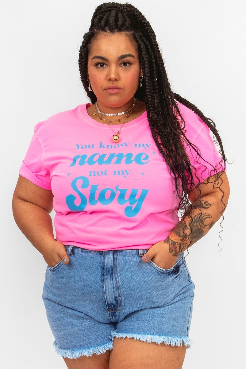 Camiseta T-shirt PLUS Neon My Story