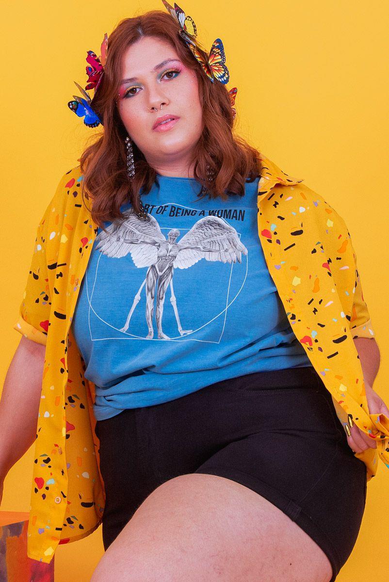 Camiseta T-shirt PLUS Vitruvian Art Woman