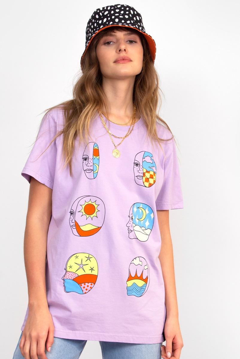 Camiseta T-shirt Rosto 360