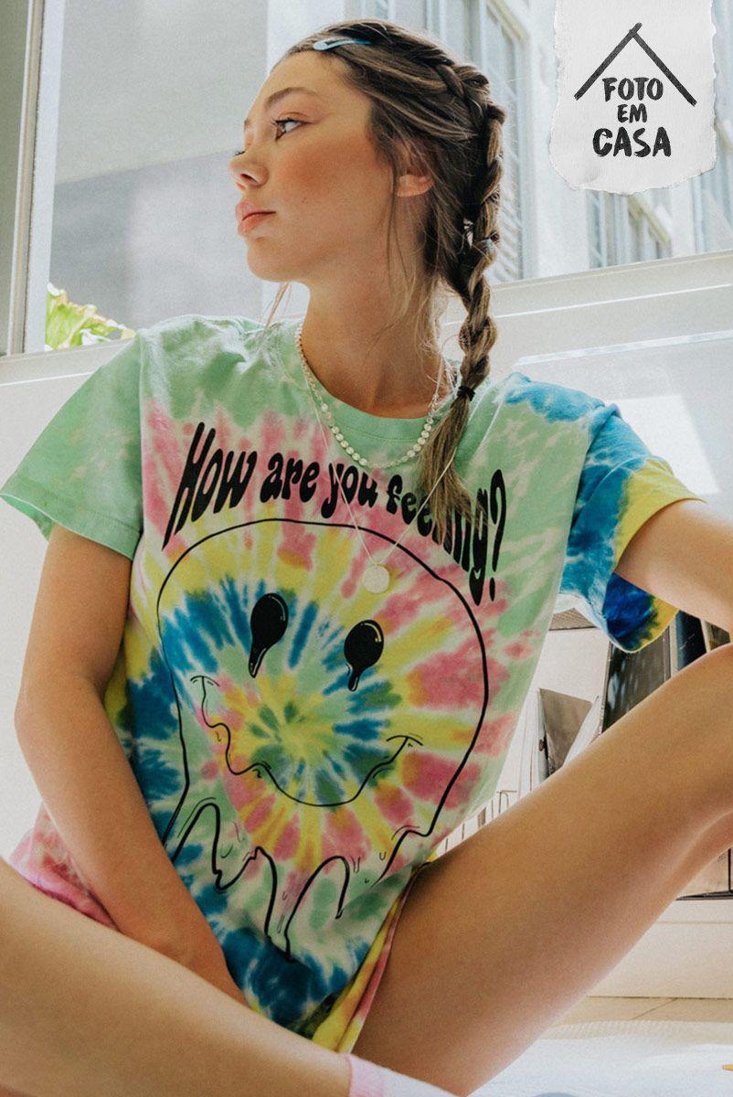 Camiseta T-shirt Tie Dye Smile