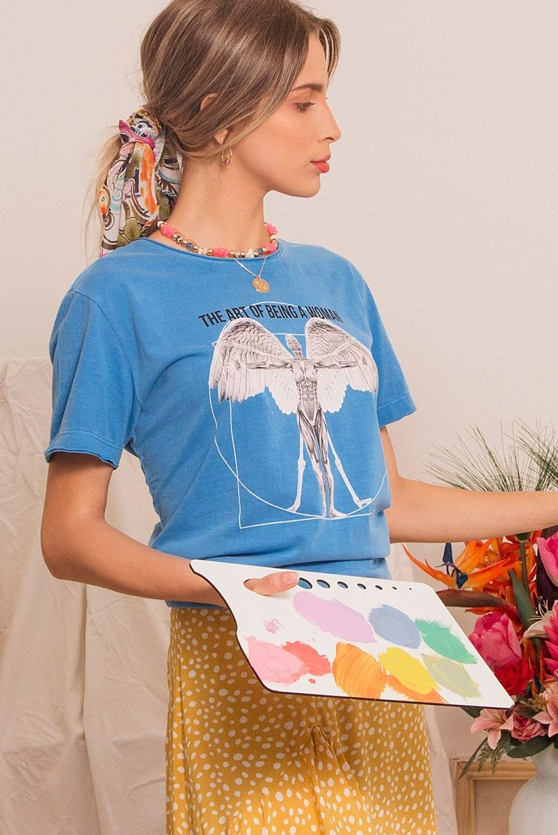 Camiseta T-shirt Vitruvian Art Woman