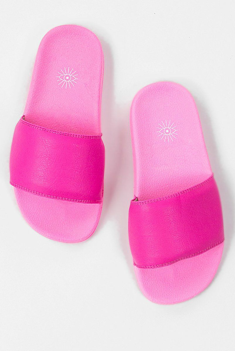 Chinelo Slide Neon - Pink