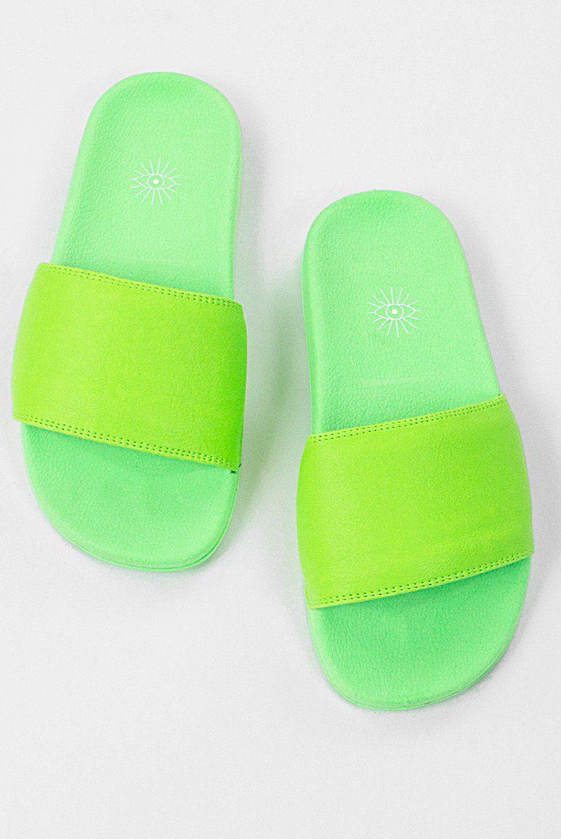 97e6dc3f8 Chinelo Slide Neon - Verde - ZIOVARA