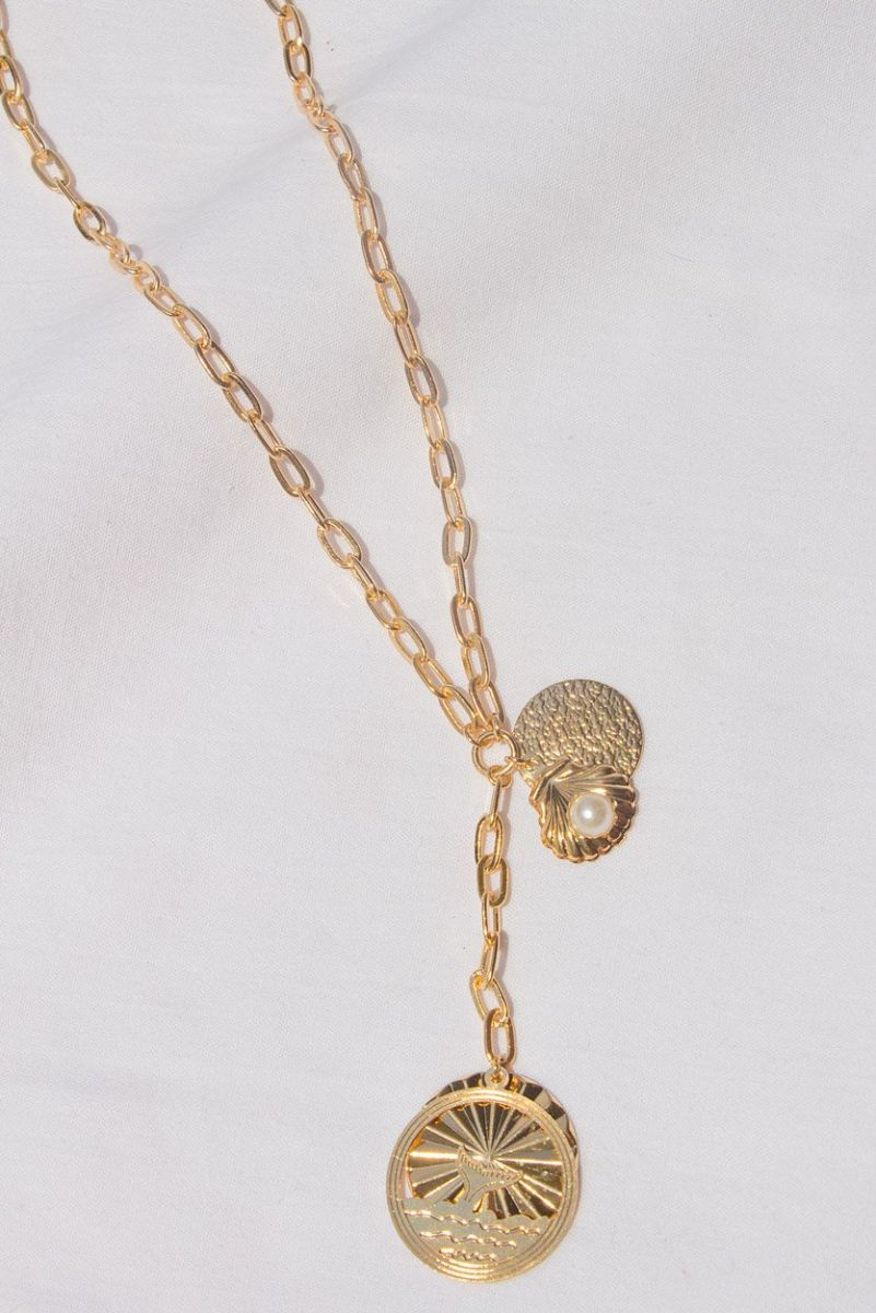 Colar Lariat Medalha Wale