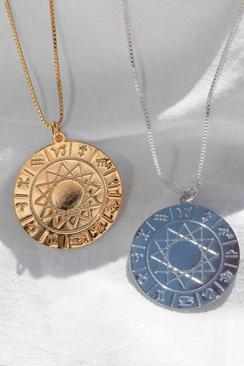 Colar Medalha Mapa Astral