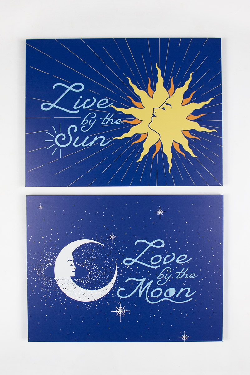 Combo Quadro Decor Sun + Moon