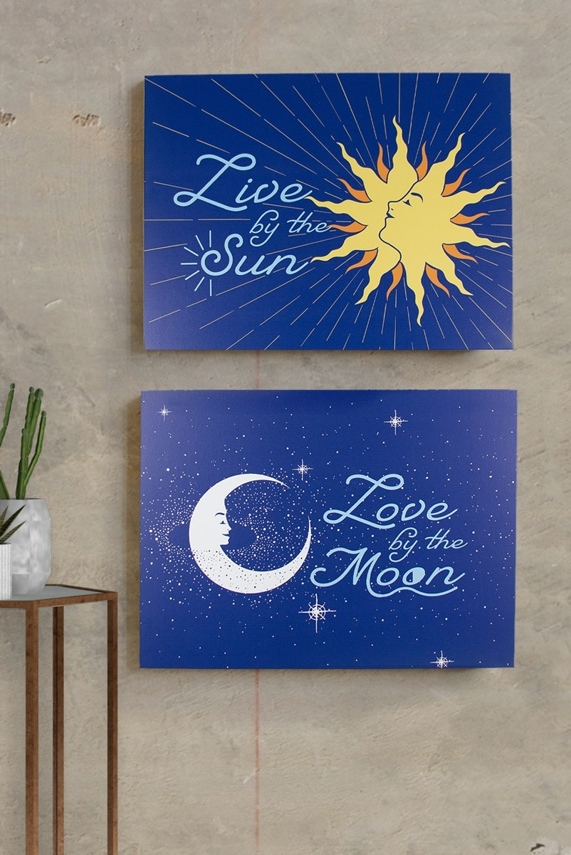 Combo Quadro Decor Sun + Moon