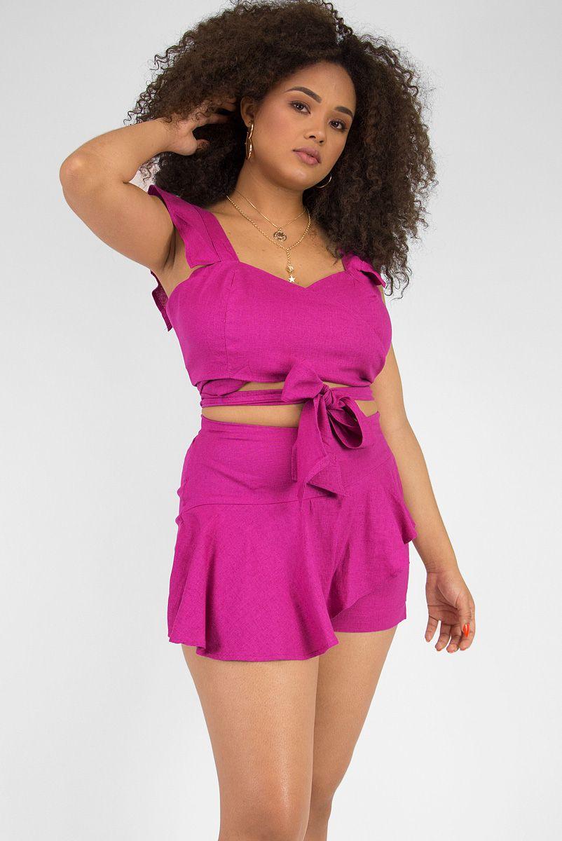 Conjunto Linho Pink