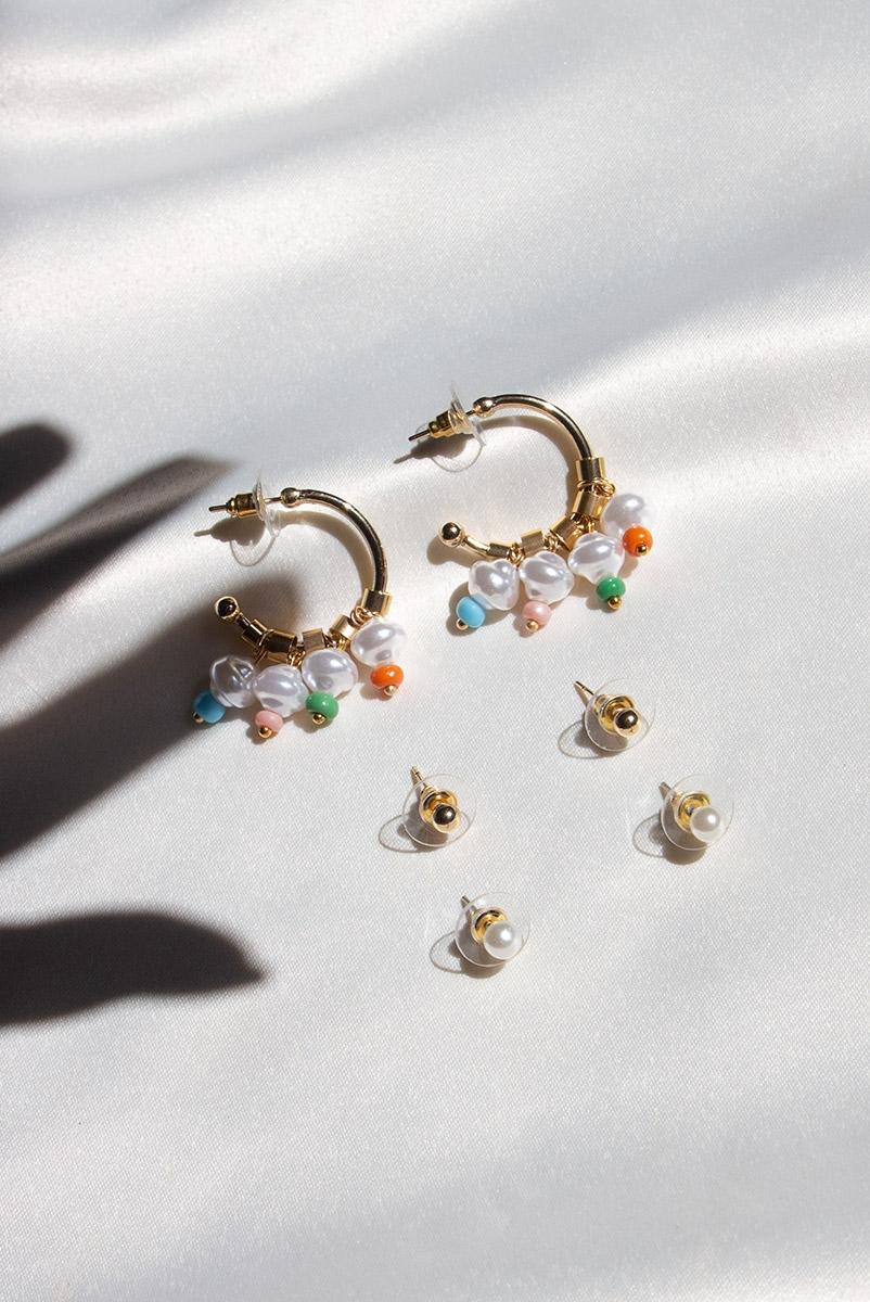 Kit Brincos Pearl Colors