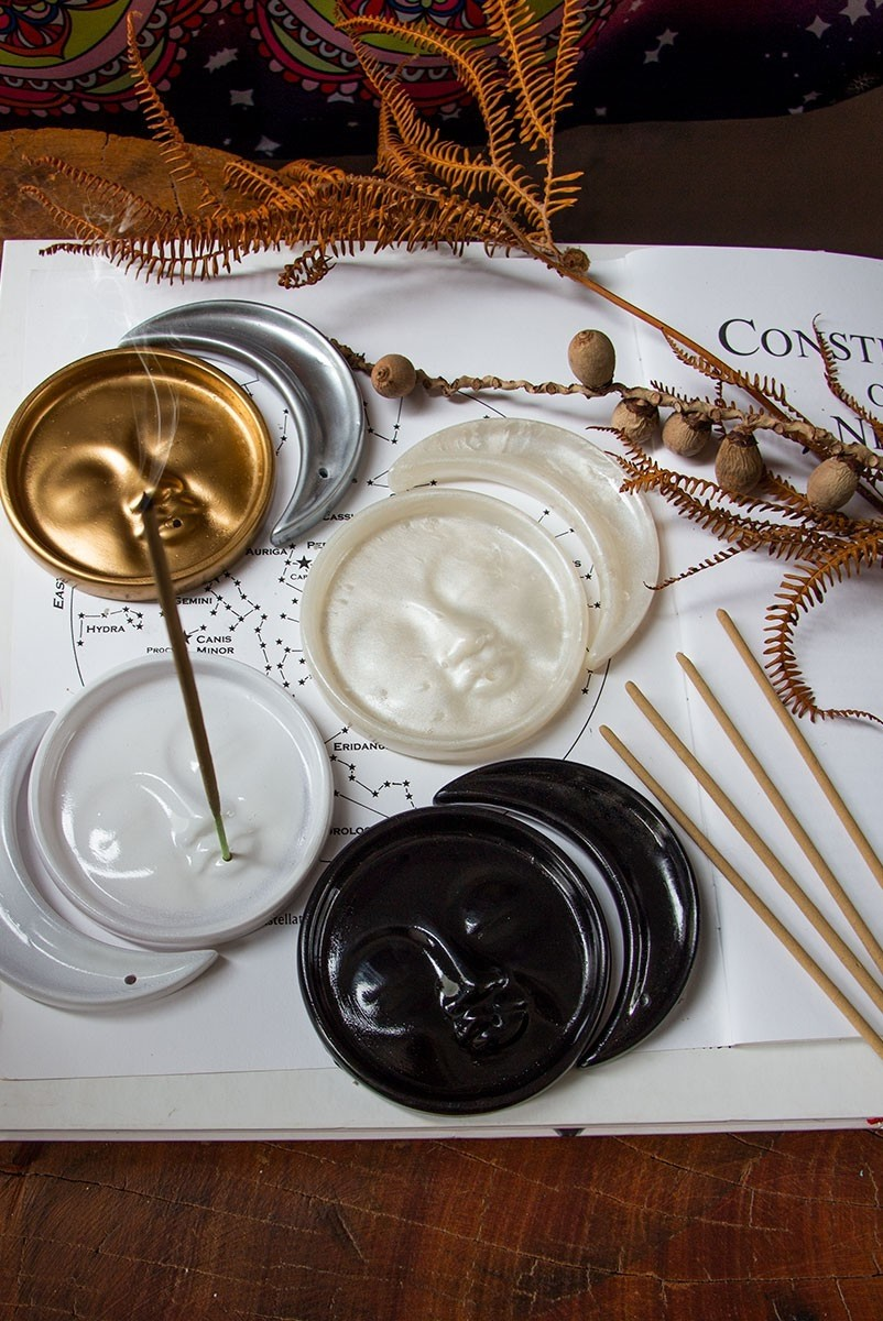 Kit Incensário Decor Sol E Lua
