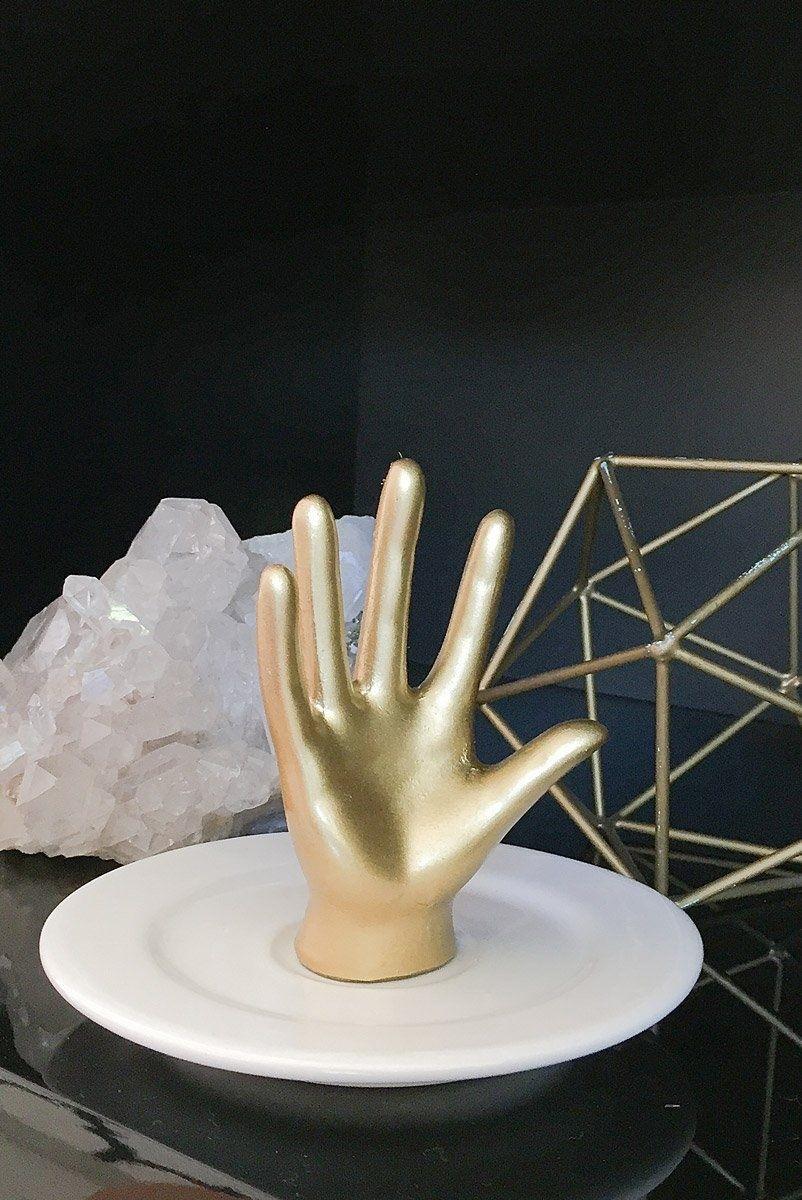 Prato Porta-Jóia Decorativo Mão