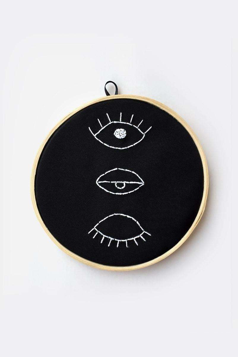 Quadrinho Bordado Decor Eyes