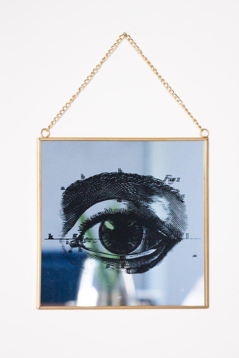 Quadro Espelhado Estampa Olho