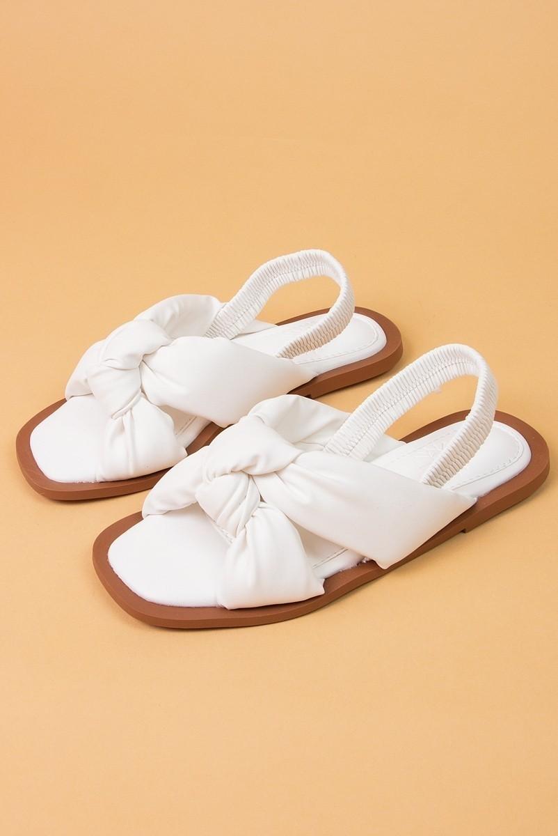 Sandália Flat Puff Branca