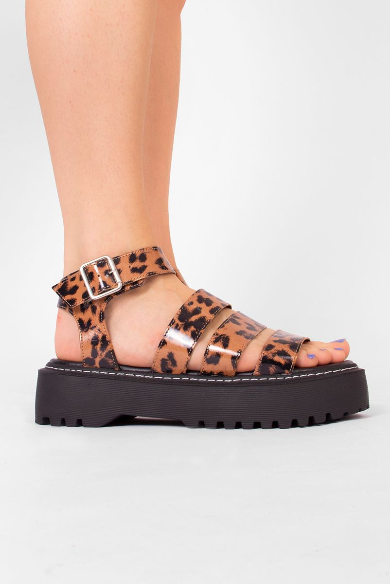 Sandália Leopardo Gina