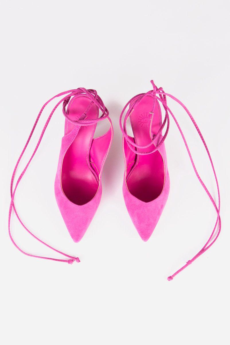 Scarpin Mule Amarração - Pink