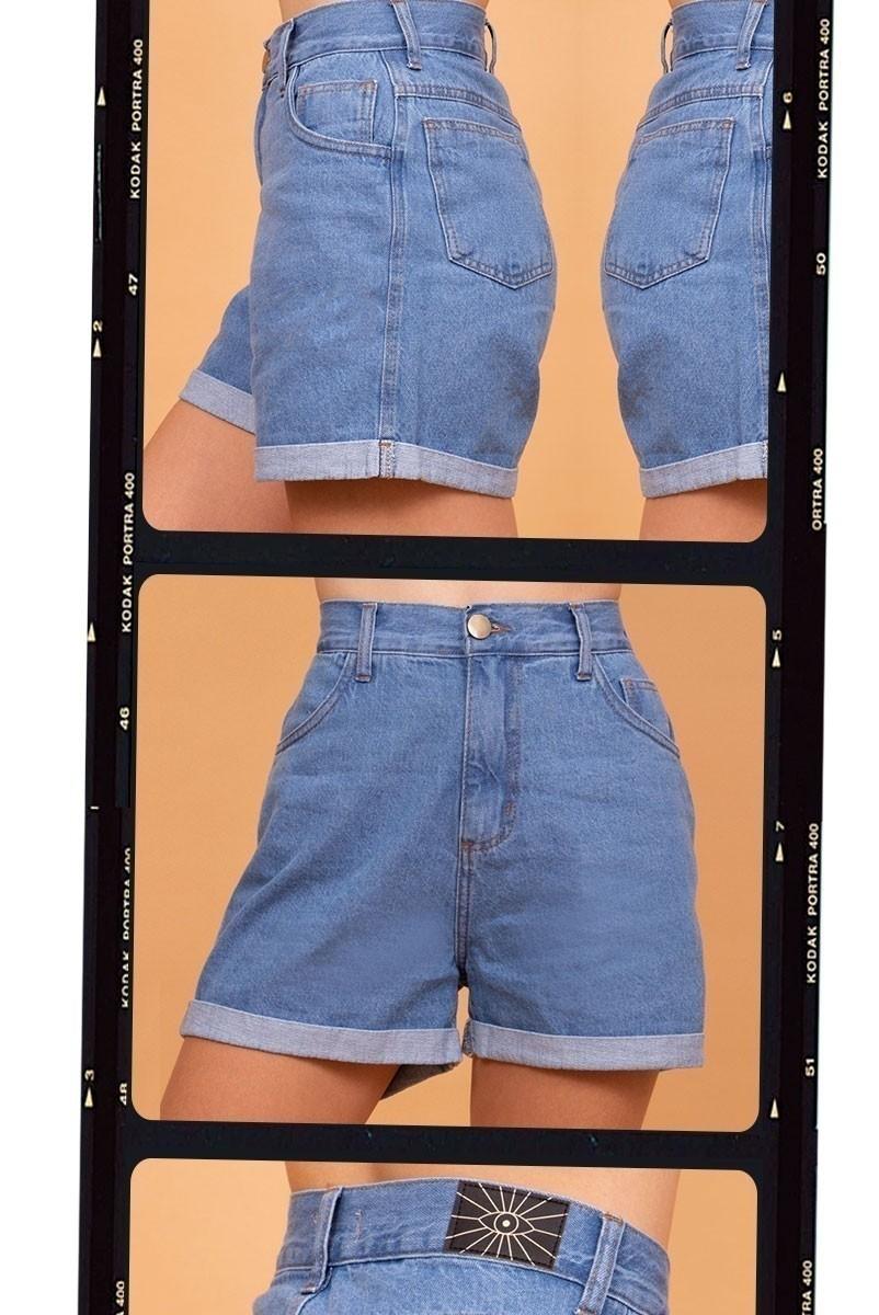 Shorts Mom Jeans Azul