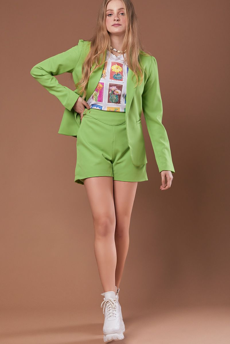 Shorts Spring Green Apple