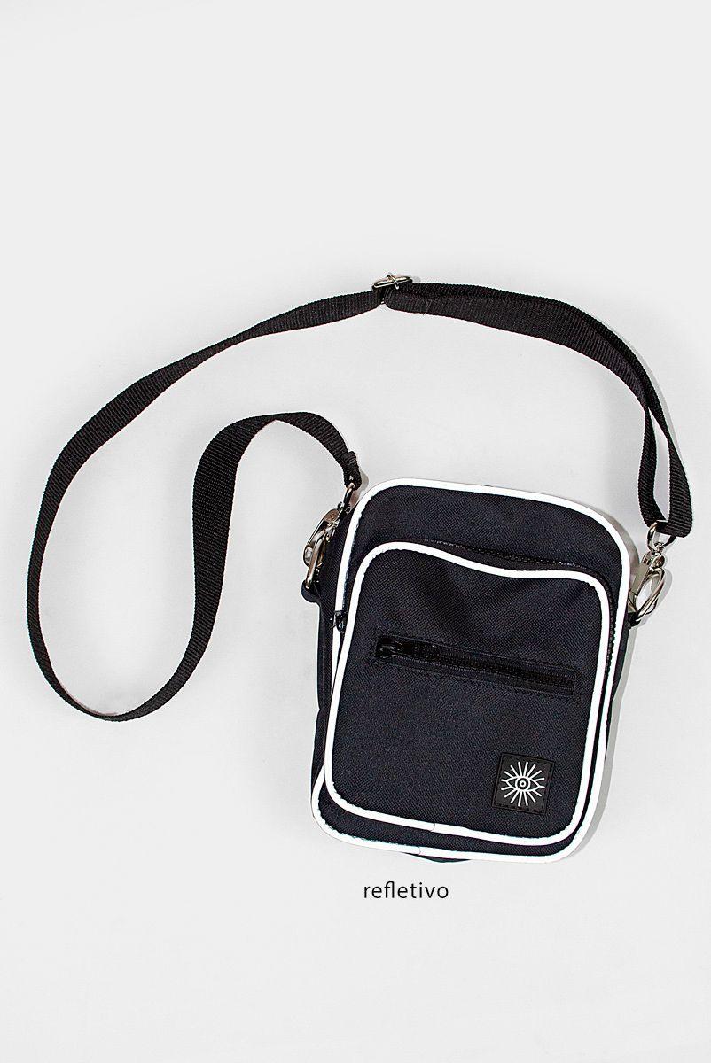 Shoulder Bag Preta Refletivo