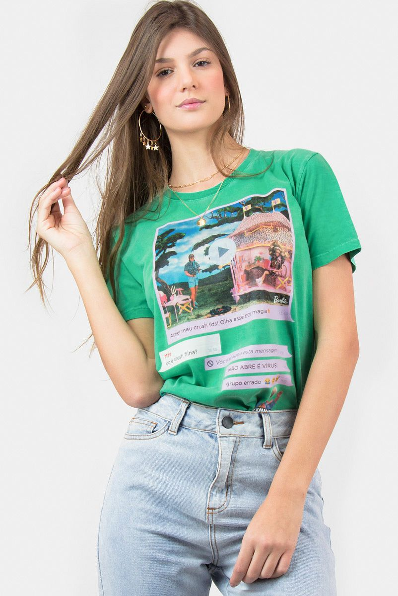 T-shirt Barbie Chat