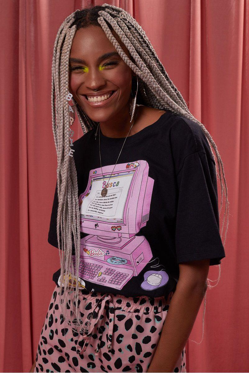 T-shirt Barbie Computador
