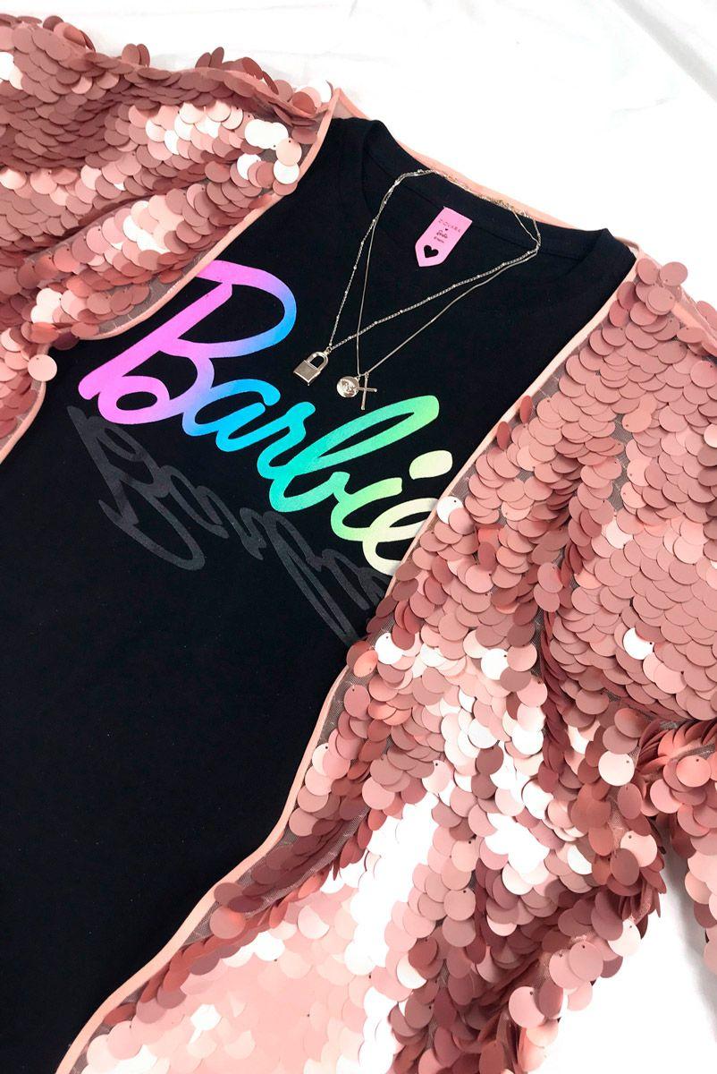 T-shirt Barbie Logo Degrade