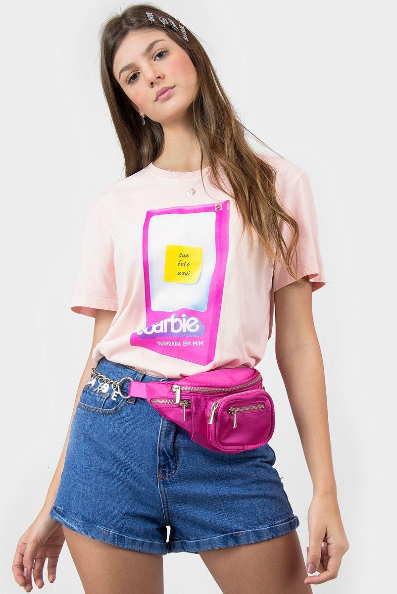 T-shirt Barbie Na Caixa