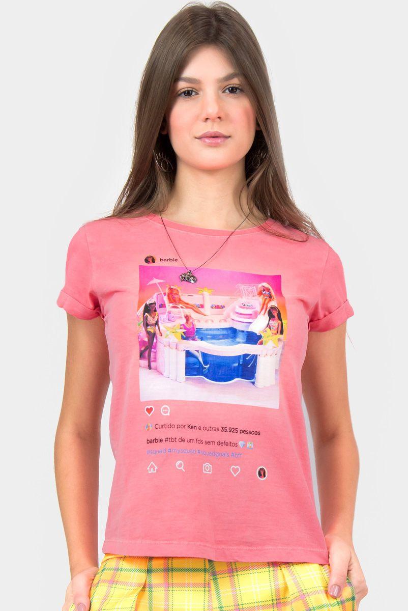 T-shirt Barbie Piscininha