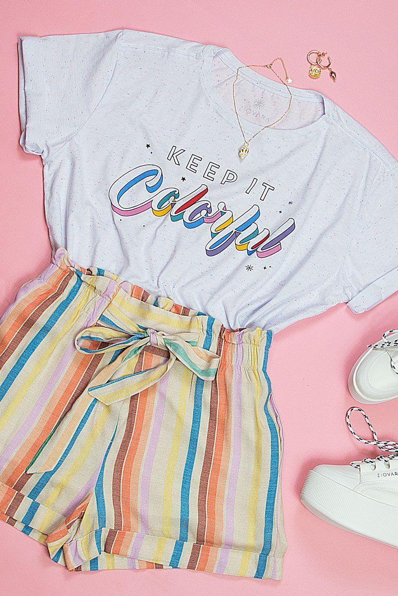 T-shirt Bolinhas Keep It Colorful