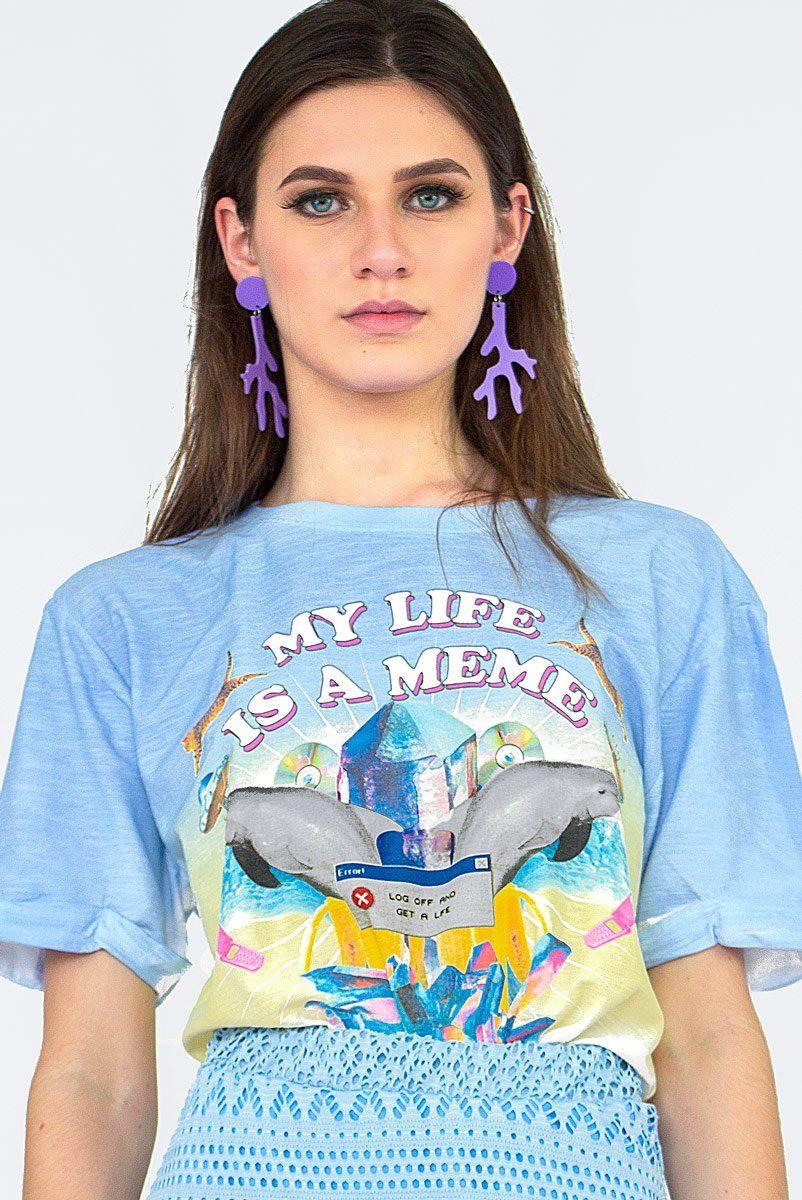T-shirt Degrade Golfinhos Meme