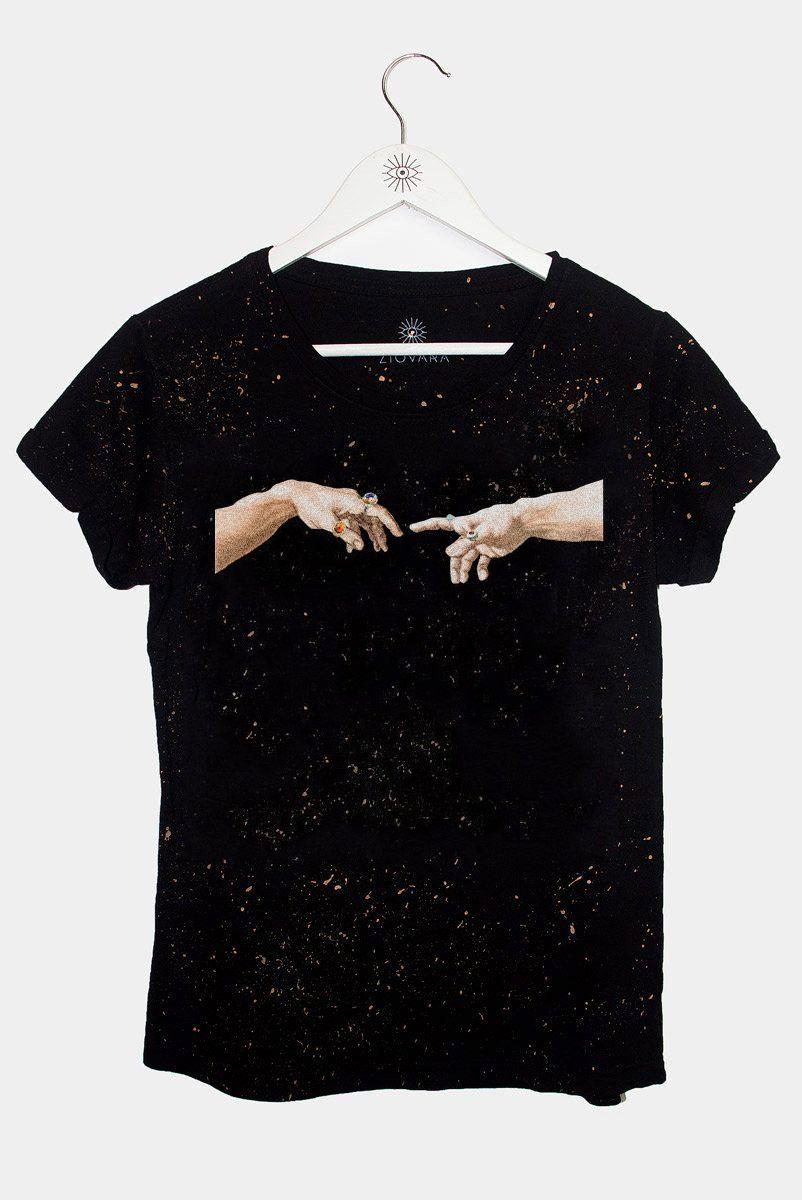 T-shirt Mão Michelangelo