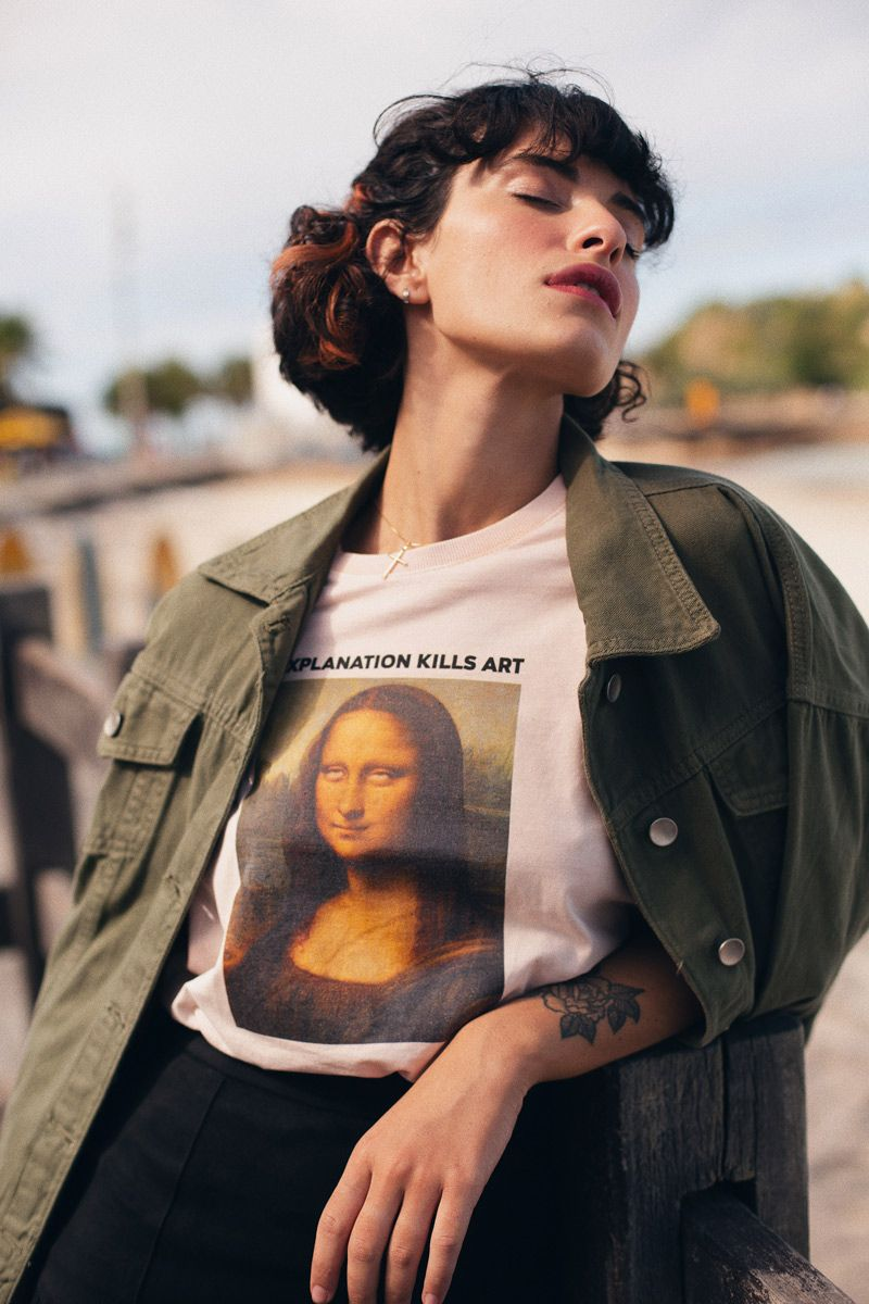 T-shirt Monalisa Roll Eyes