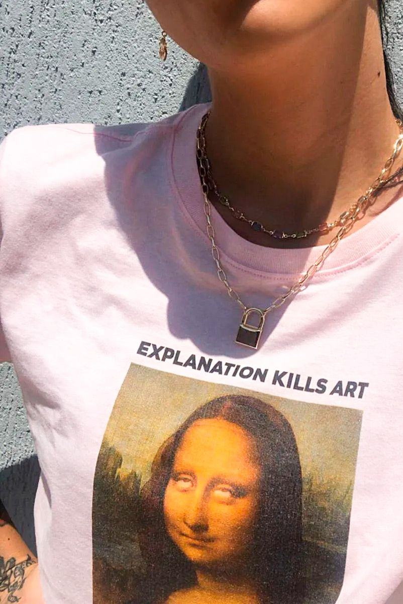 T-shirt NEW! Monalisa Roll Eyes
