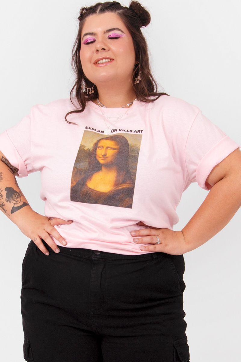 T-shirt NEW! PLUS Monalisa Roll Eyes