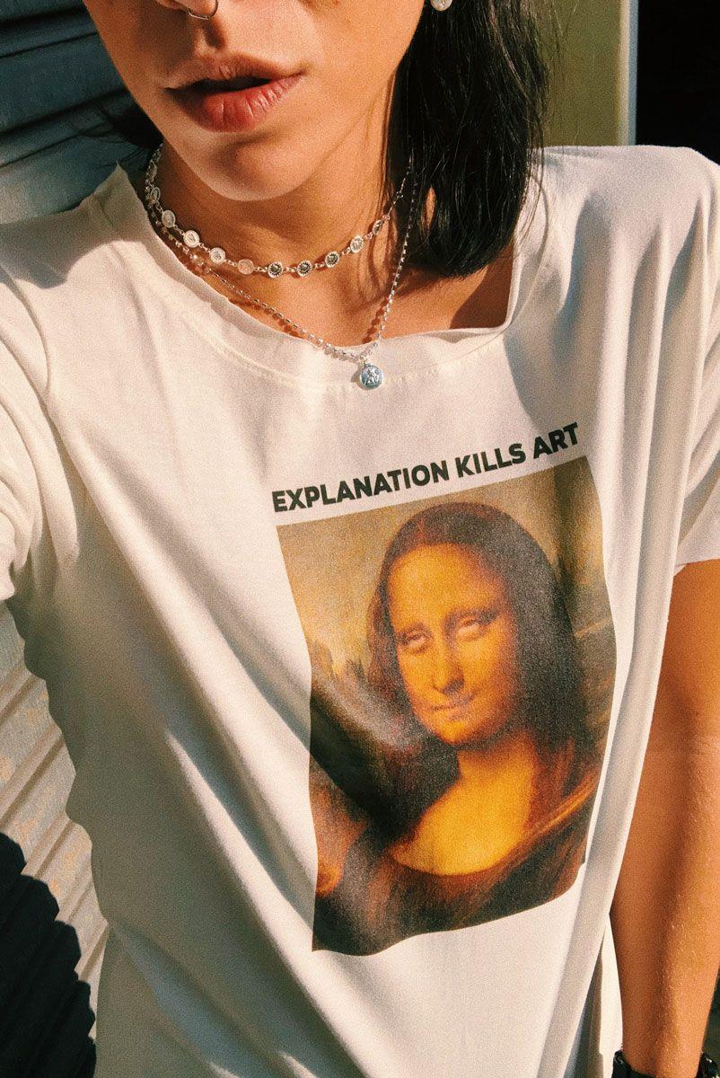 T-shirt Off Monalisa Roll Eyes