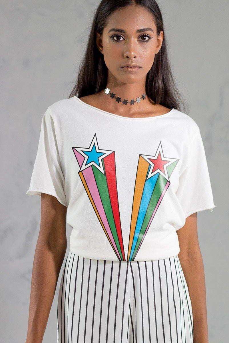 T-shirt Off-White Super Star Rainbow