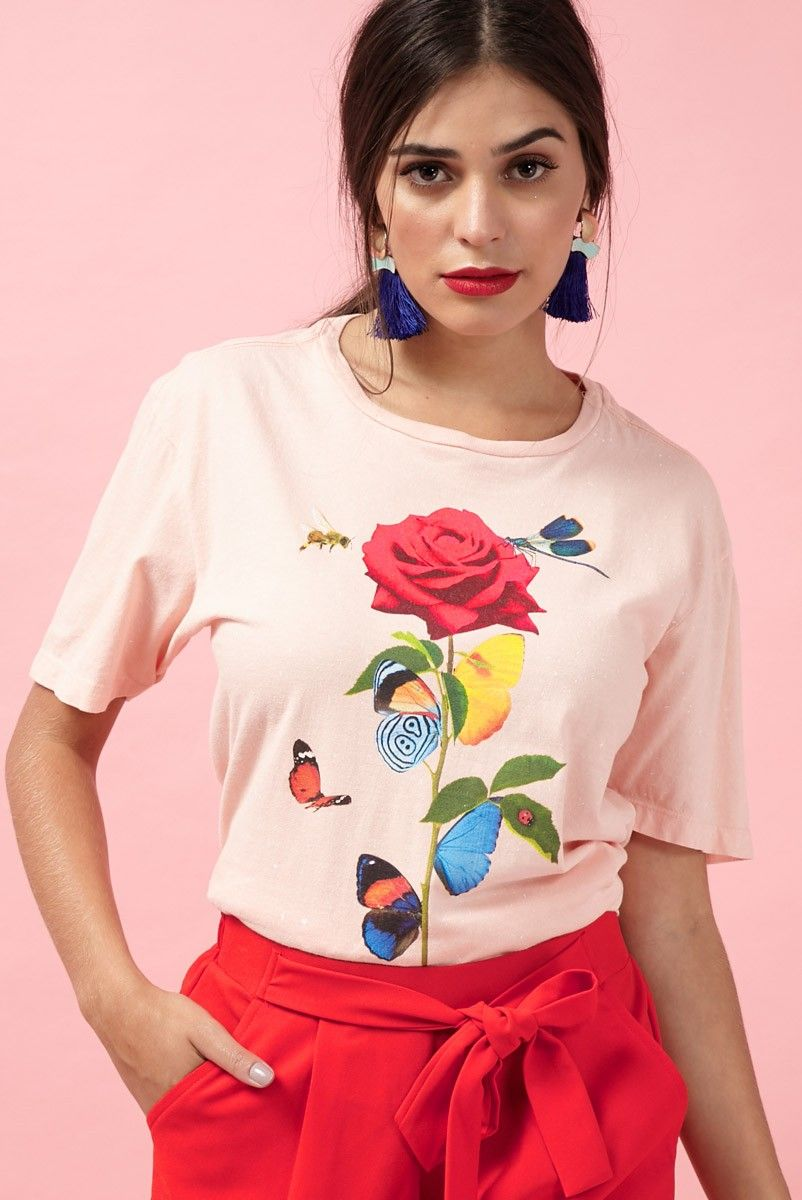 T-shirt Peach Insetos INSECTA