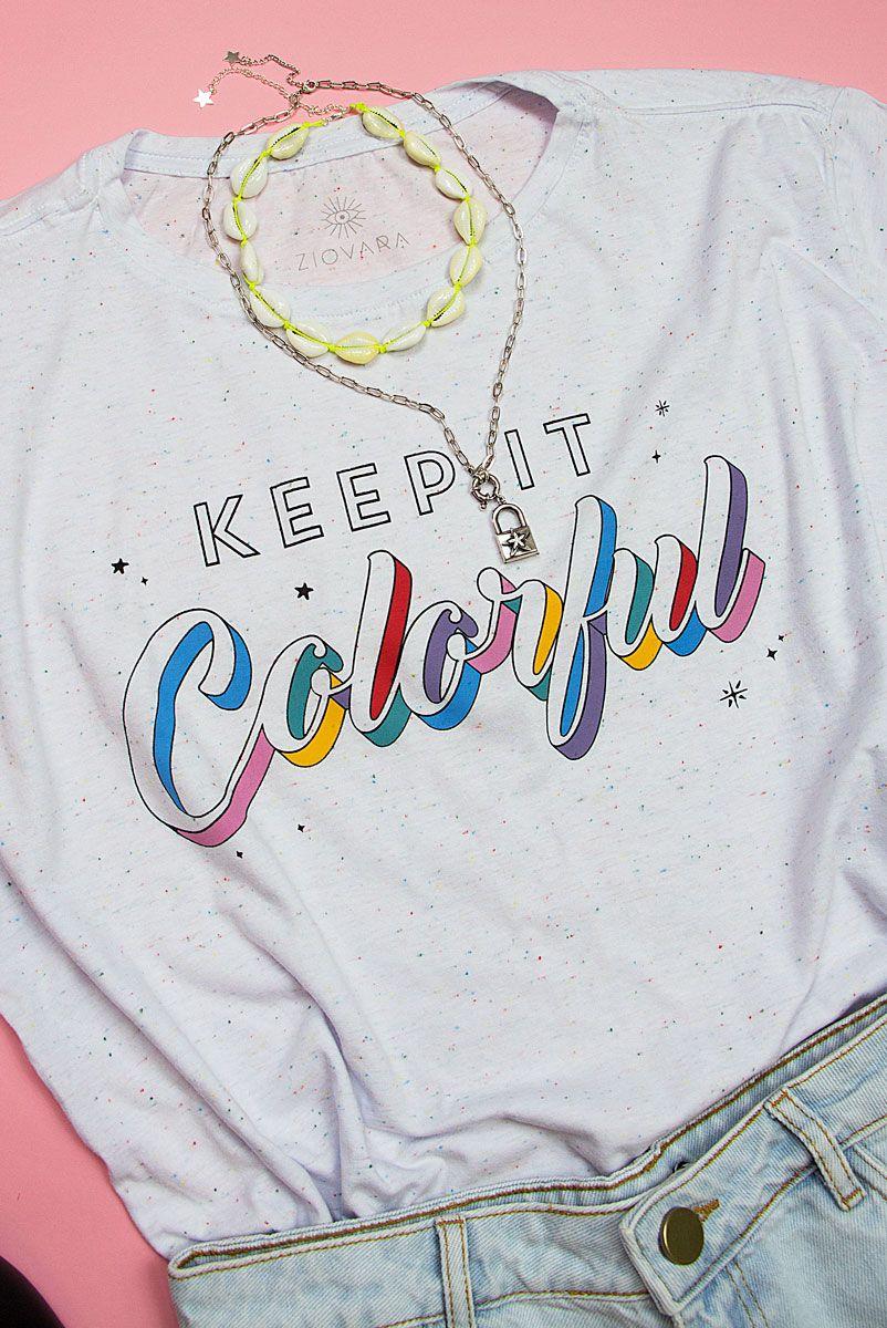 T-shirt PLUS Bolinhas Keep It Colorful
