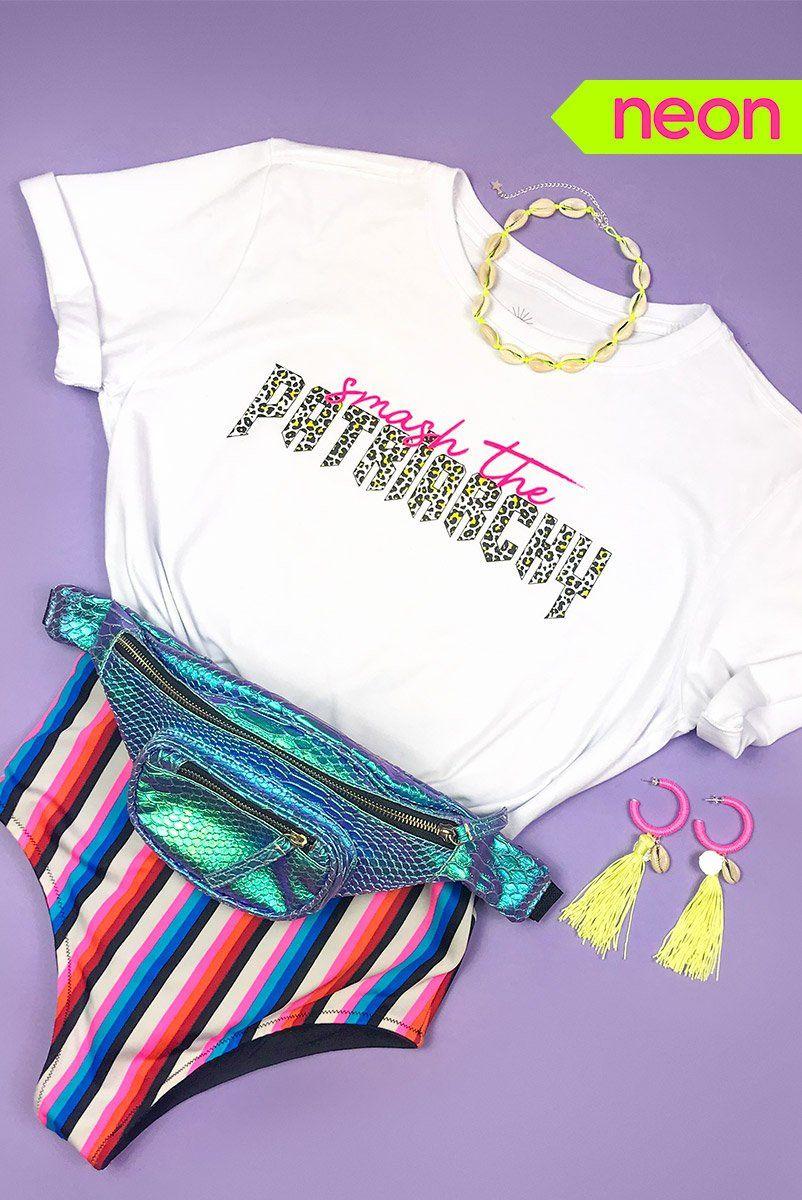 T-shirt PLUS Neon Smash The Patriarchy