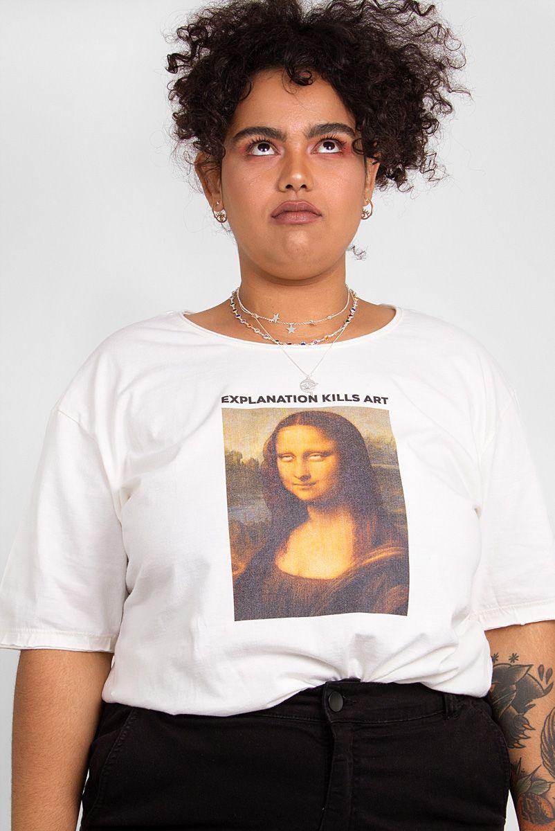 T-shirt PLUS Off Monalisa Roll Eyes