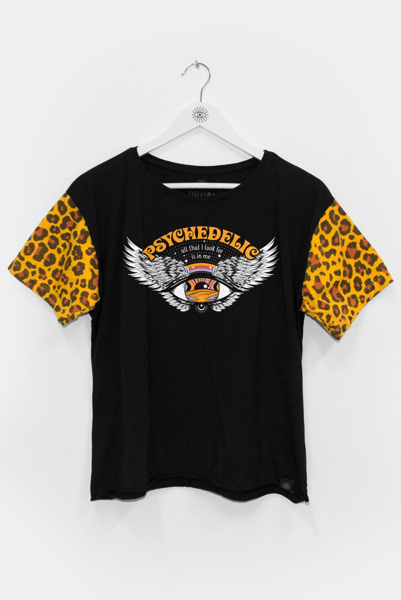 T-shirt PLUS Onça Olho Psychedelic