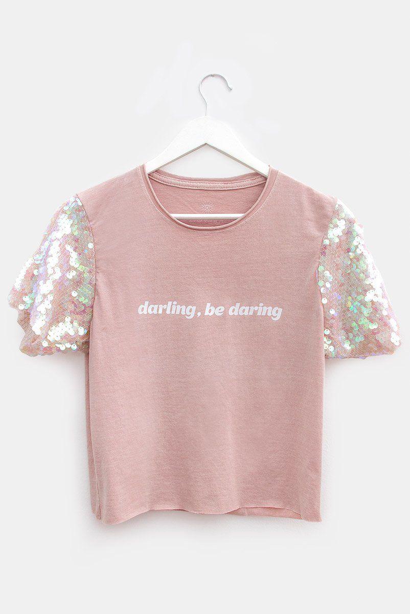 T-shirt PLUS Paetê