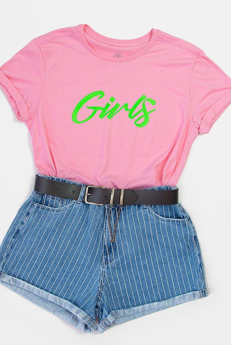 T-shirt PLUS Pink Neon GIRLS