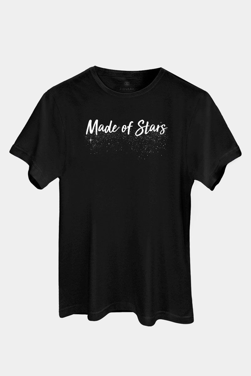 T-shirt PLUS Preta Made Of Stars