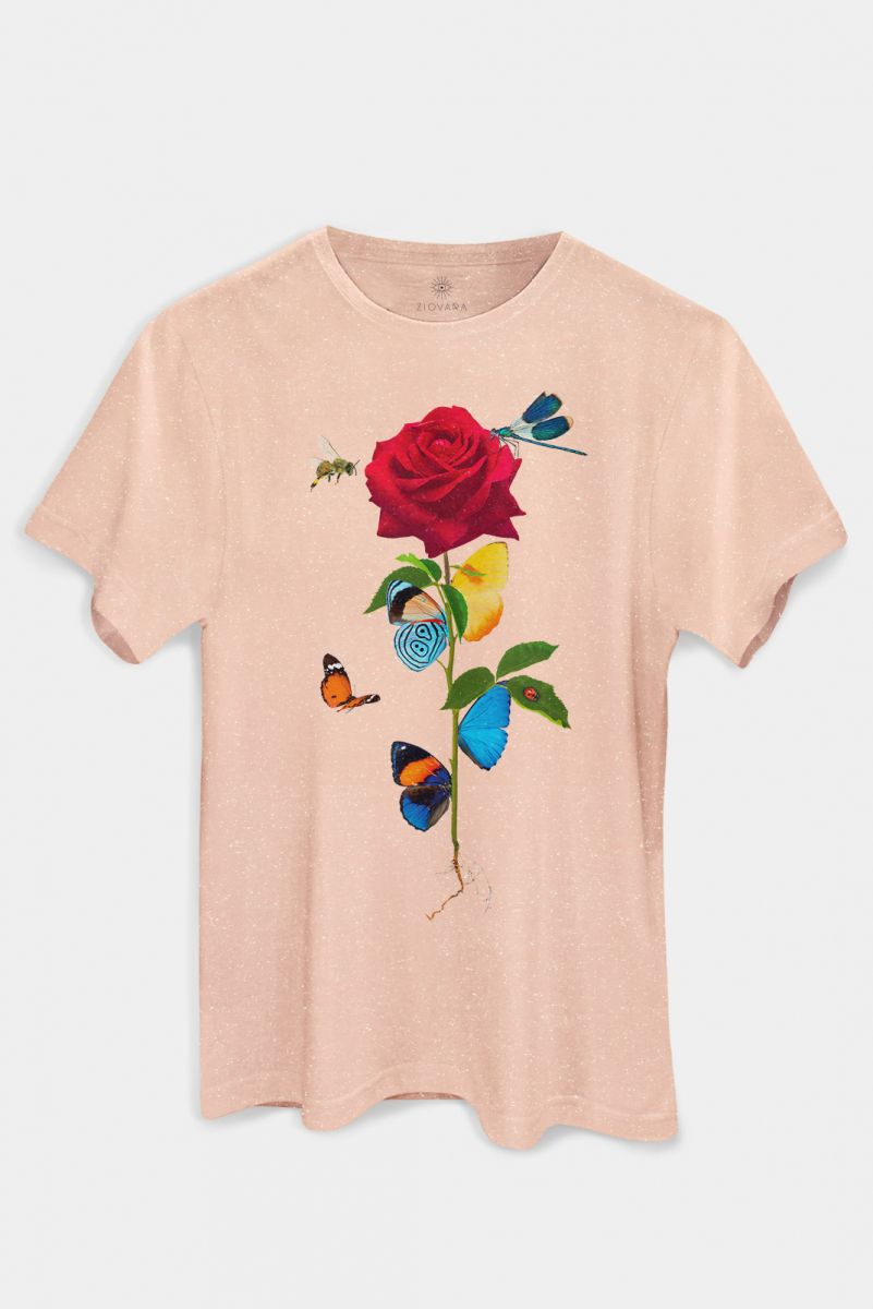 T-shirt PLUS Rosa Insetos INSECTA