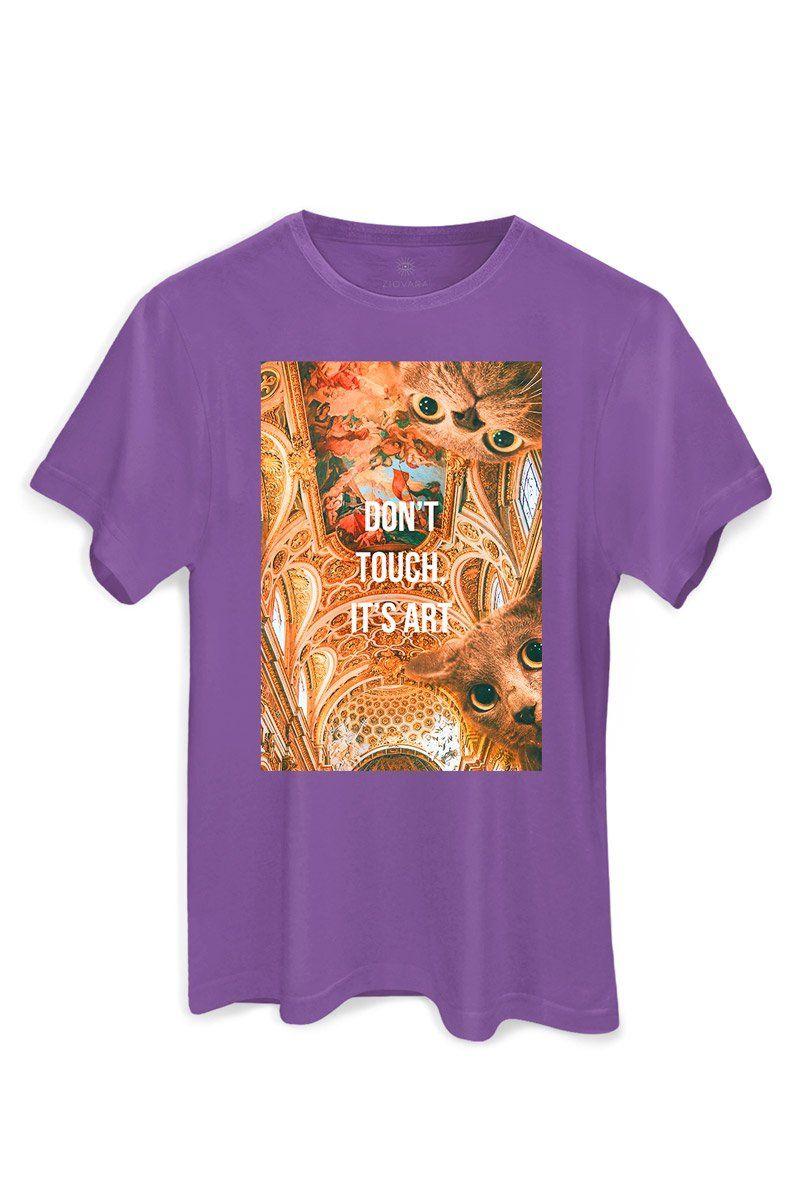T-shirt PLUS Violet Don't Touch It's A Gato